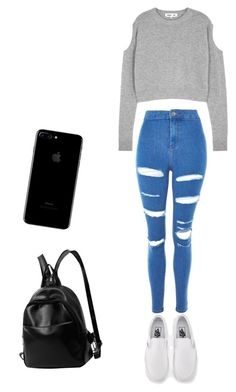 """""""Untitled #11"""" by emmaca-varga on Polyvore featuring McQ by Alexander McQueen, Topshop and Vans"""