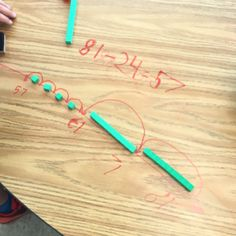 Concrete way to explore subtraction and open number lines Math Strategies, Math Resources, Subtraction Strategies, Number Lines, Open Number Line, Math Subtraction, Number Line Subtraction, Maths 3e, Second Grade Math