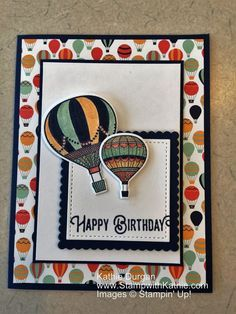 Stampin' Up! Lift Me Up - like the frame around the greeting
