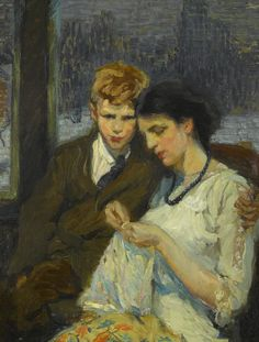 Alice Schille  Mother and Son (c. 1910-15)  42 X 32 in.  oil on canvas