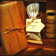 Www.lovemyfood.net Macadamia, walnut and seed dukkah. Vintage wrapped for quick gift delivery Gift Delivery, Vintage Picnic, Catering, Gifts, Presents, Catering Business, Gastronomia, Favors, Gift