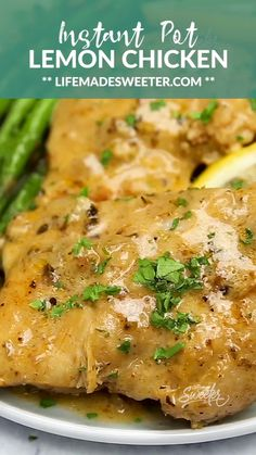 This Instant Pot Lemon Garlic Chicken is the perfect low carb & keto friendly meal for spring. Best of all, this recipe is super simple and the chicken cooks up tender, juicy and full of flavor with instructions for the pressure cooker and stovetop. Healthy Recipes, Low Carb Recipes, Cooking Recipes, Bacon Recipes, Avocado Recipes, One Pot Recipes, Asian Recipes, Low Calorie Chicken Recipes, Brats Recipes