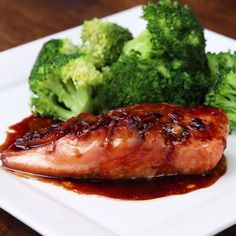 Eat Stop Eat To Loss Weight - Honey Soy Glazed Salmon. Try this delicious recipe and wow your dinner guests! - In Just One Day This Simple Strategy Frees You From Complicated Diet Rules - And Eliminates Rebound Weight Gain Salmon Dishes, Fish Dishes, Seafood Dishes, Seafood Recipes, Cooking Recipes, Healthy Recipes, Honey Recipes, Side Dishes With Salmon, Easy Cooking