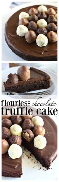 Flourless Chocolate Truffle Cake (gluten free) from What The Fork Food Blog | whattheforkfoodblog.com