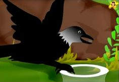 The thirsty crow drops pebbles into the pot English Moral Stories, Short Moral Stories, English Stories For Kids, Moral Stories For Kids, Short Stories For Kids, English Story, Reading Stories, Goodbye Cards, Montessori Activities