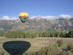 Hot air balloon ride above the Tetons | Jackson Hole