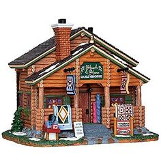 Lemax Village Collection -Christmas Village Building, Porcelain Lighted House Hearth & Home Quilt Shoppe With 6 Foot Cord
