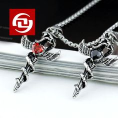Men Jewelry New 2014 Hot Selling Titanium Steel Exquisite Snake Wind The Cross Pendant Necklaces & Pendants Items JeweleryY.R