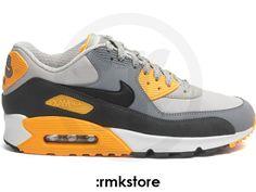 Nike Air Max 90 Essential Pale Grey Anthracite Orange