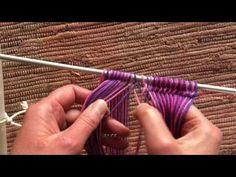 Sprang basic Z twist - the plait row - YouTube