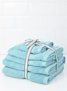 Turquoise Egyptian Cotton Towel Bale - BHS