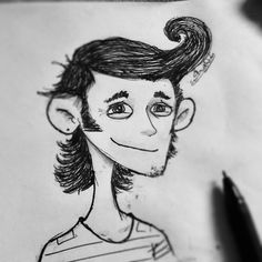 Smile smile smile for me. #smile #drawing #character #ballpen #doodle #boy