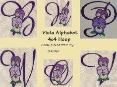 Viola Alpha Machine Embroidery Designs http://www.designsbysick.com/details/violaalpha