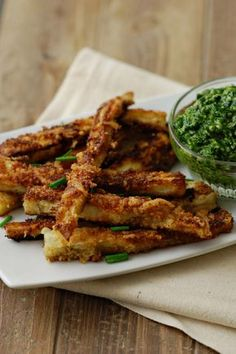 Eggplant sticks with Parmesan cheese and bread crumbs baked in oven.Delicious and crispy! From the Magic Skillet Vegetable Recipes, Vegetarian Recipes, Cooking Recipes, Healthy Recipes, Eggplant Dishes, Eggplant Parmesan, Recipes With Eggplant, Italian Eggplant Recipes, Eggplant Fries