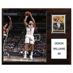 C and I Collectables NBA 15W x 12H in. Deron Williams Brooklyn Nets Player Plaque - 1215DERONWBR