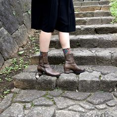 #socks by #ayame and #leather #boots by #vialis