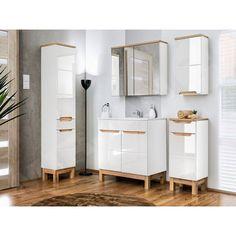 Alin I fürdőszobabútor Bathroom Shelves, Bathroom Cabinets, Bathroom Storage, Free Standing Vanity, Free Standing Cabinets, Under Sink Storage Unit, Cabinet Shelving, Mirror Cabinets, Vanity Units