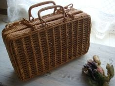 フランスアンティークトランク型バスケットパニエ インテリア 雑貨 家具 Antique pannier basket ¥5980yen 〆05月12日
