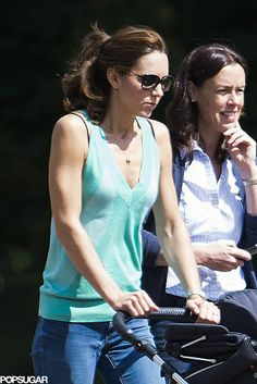 Prince George Couldn't Be Cuter During His Park Day With Kate. Kate with George and protection officer Emma Probert, a recent mum herself, during a outing in July 2014.