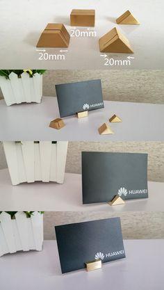 modern solid brass desk business name card holder case display office desk organizer to keep business - Business Card Display Holder