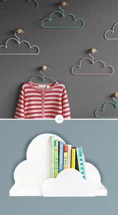 I adore these hangers, perfect for kids rooms. Could also be beautiful to display necklaces :)