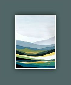 Original Abstract Mountain Painting Acrylic painting on watercolor paper. If you would like this piece, but on a canvas or in a different size, please feel free to contact me. PLEASE NOTE FRAME AND MAT NOT INCLUDED. size Would you like to include th Modern Art Prints, Contemporary Paintings, Contemporary Decor, Contemporary Landscape, Modern Abstract Art, Contemporary Stairs, Contemporary Apartment, Contemporary Wallpaper, Contemporary Chandelier
