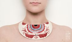 Necklace | Madalina Andronic ~ DOI /TWO.  Fall-winter '12/'13 porcelain jewelry line