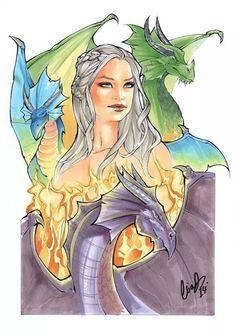 Game of Thrones - Daenerys Targaryan by Elias Chatzoudis *