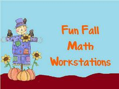Lots of ideas for math workstations