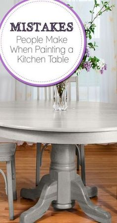 Ideas For Diy Kitchen Table Redo Coats Painted Oak Table, Painted Kitchen Tables, Refinishing Kitchen Tables, Painted Chairs, Trendy Furniture, Repurposed Furniture, Painted Furniture, Refurbished Furniture, Cheap Furniture