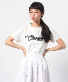 ShopStyle(ショップスタイル): Lautreamont Droite ロゴ刺繍Tシャツ