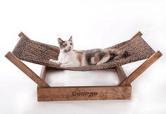 "Sleepurrz Wooden Cat and Dog Hammock – 43x18x12"",cat furniture,discount cat… #DogSocialization"