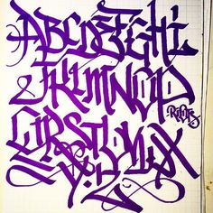 alphabet school via @menace.two #menacetwo #handstyle //follow @handstyler on Instagram