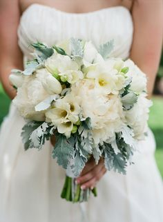 white wedding bouquet by floral theory #bouquet http://www.weddingchicks.com/2013/11/12/wine-country-wedding/