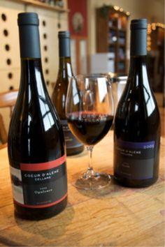 One of my wine clubs - Coeur d'Alene Cellars!