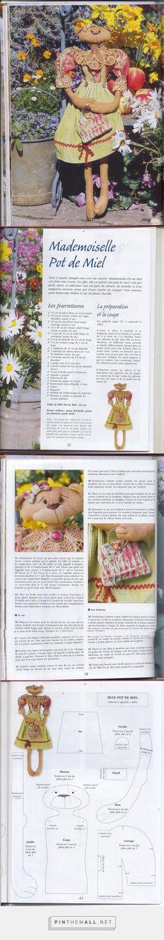 Primitive Doll, Doll Crafts, Genre, Stuffed Toys Patterns, Teddy Bears, Needlework, Dog Cat, Dolls, Animal