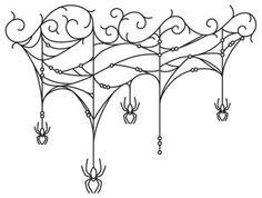 Gothic Gala - Cobweb Drape | Urban Threads: Unique and Awesome Embroidery Designs