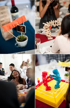 awesome classic board game centerpieces! love love love this idea!