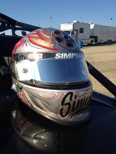 Landonsimon.com tribute to the legends helmet painted by Josh Shaw. #sprintcar #racing