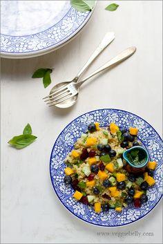 Mango Blueberry Quinoa Salad