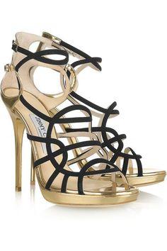 67550547cd1e Jimmy Choo Bunting metallic leather sandals  JimmyChooHeels Metallic Sandals