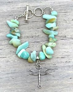 DragonFly Amazonite Beaded Stack Stretch Bracelets, Beaded Bracelets, Gemstone Beads, Turquoise Bracelet, Gemstones, Handmade, Stuff To Buy, Beautiful, Jewelry