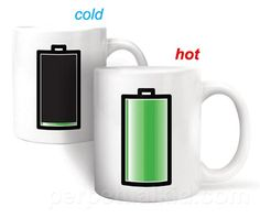 Heat Sensitive Battery Coffee Mug. I want!!
