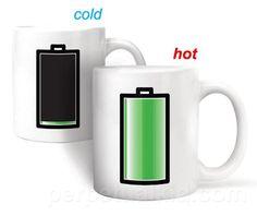 Heat Sensitive Battery Coffee Mug