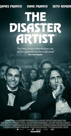 "The Disaster Artist Story about the making of the best worst movie ever made, ""The Room."" Jame Franco nails the lead role. If you haven't seen The Room, it's definitely worth seeing as is this film. Stars James Franco and Dave Franco. The Artist Movie, Artist Film, Hd Movies Online, Tv Series Online, 2017 Movies, Movies To Watch, Good Movies, Film Watch, Movies Free"