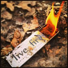 LIVE FIRE Emergency Fire Starter – A Must Have For Your Bug Out Bag    If you want to get fire, every time, this is your product! Its waterproof, lasts from 30 minuets to a few hrs (depending on how you use it!) and burns HOT!