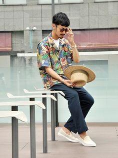 EDIFICE新宿店|DAICHIさんの「BANANATIME / アフリカンパッチワークハワイアンシャツ(EDIFICE|エディフィス)」を使ったコーディネート