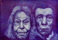 Johan Schwagten - Zonder titel - Ballpoint - Gemeentelijke School Beeldende Kunst Overijse Portrait, Portrait Tattoo, Art, Drawings