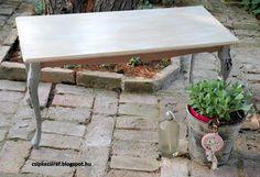Csipkezsiráf: Intarziás asztal átalakítása furniture makeover