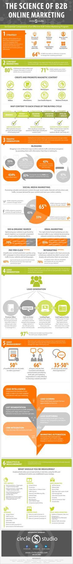 B2B Online Marketing Infografik: B2B Social Media Strategie